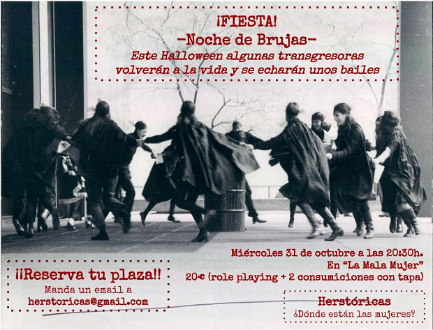 feminismo, fiesta feminista, brujas