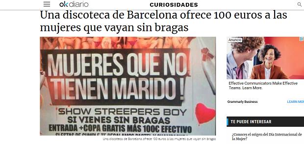 feminismo, mujeres en lucha, porteros, discotecas, barcelona, gratis, producto