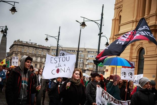 polonia, manifestacion, 8 de marzo, dia de la mujer