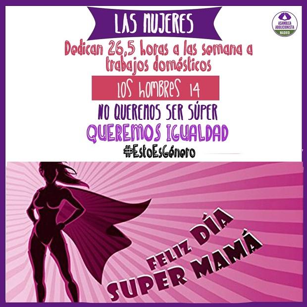 dia de la madre, genero, machismo, sexismo, mamas, regalos, mujeres en lucha, doble jornada, empleo, feminismo