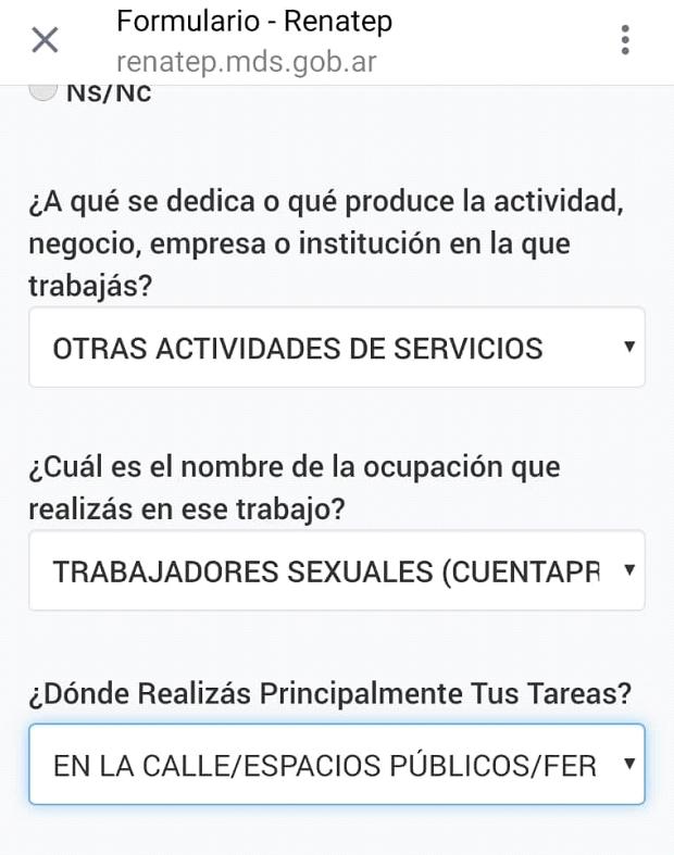 registro, prostitucion, argentina, trata, legalizacion, retirada, mujeres en lucha, feminismo, twitter, formulario